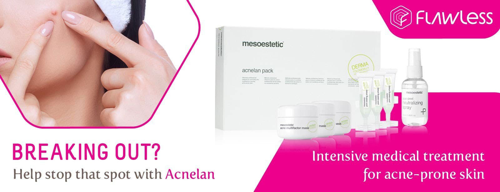 Acnelan Mesoestetic Break Out Pimples Intensive medical treatment flawless